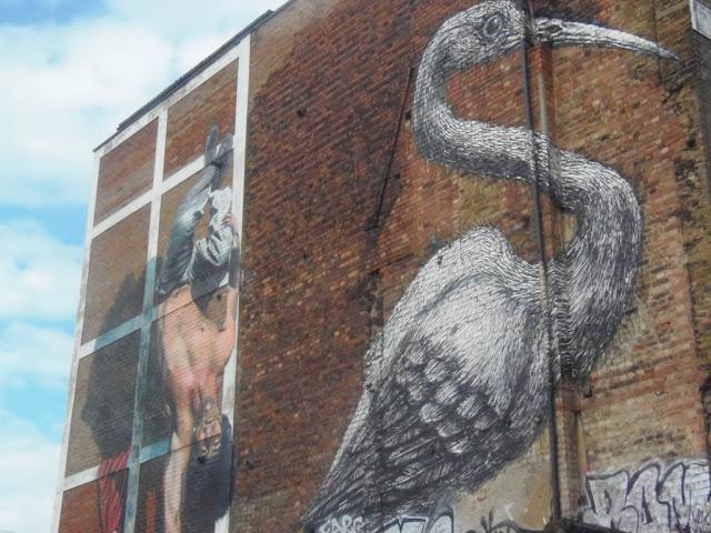 Shore street art, bird. http://psychologyfoodandfitness.blogspot.co.uk/2016/08/travel-shoreditch-photo-diary.html
