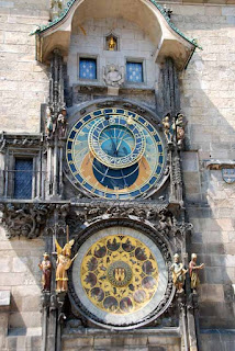Astronomical Clock Orlij Old Town Square Prague Czech Republic