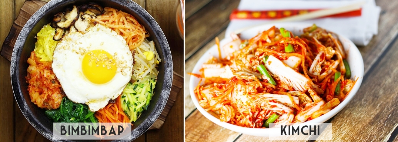 Comidas Coreanas: Bimbimbap e Kimchi
