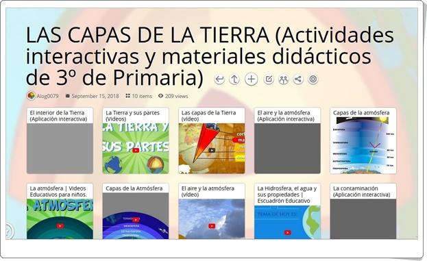 """""""10 Actividades interactivas y materiales didácticos para el estudio de LAS CAPAS DE LA TIERRA en 3º de Primaria"""""""