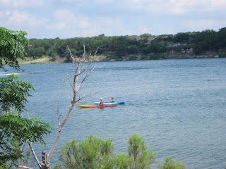 2 kayakers out on Lake Georgetown