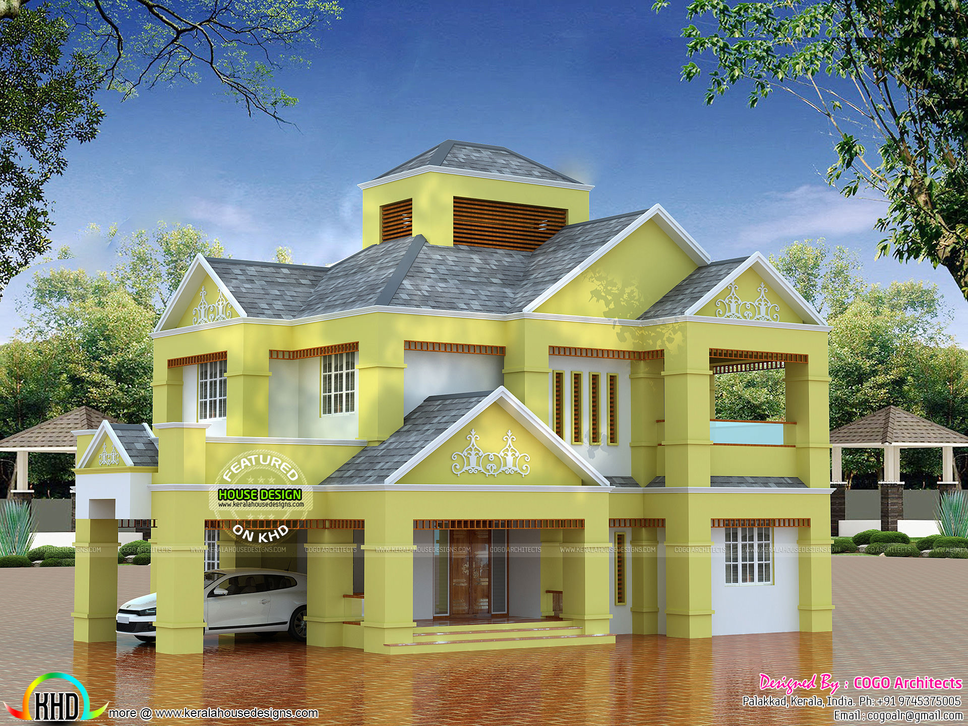 Colonial type modern luxury home - Low Budget Colonial Type Home Architecture