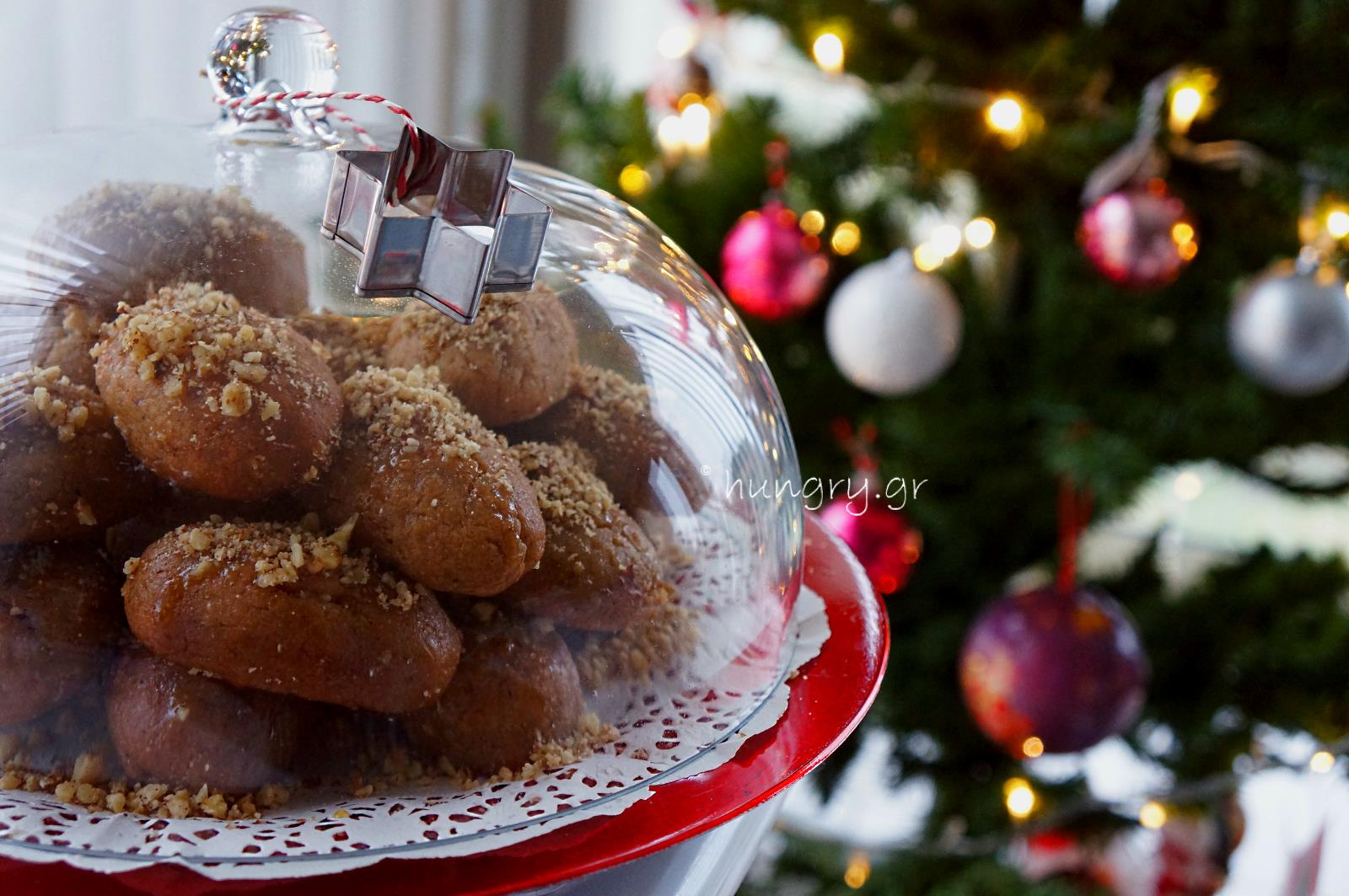melomakarona greek christmas honey cookies - Greek Christmas Food