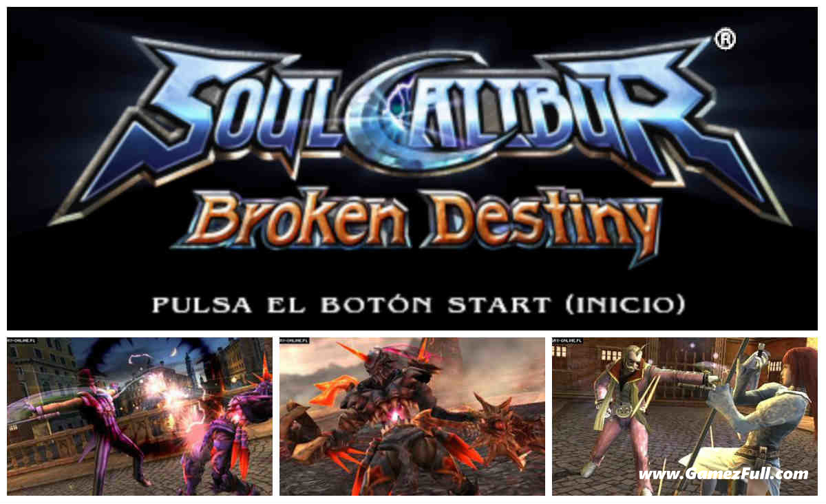Soul Calibur Broken Destiny psp español