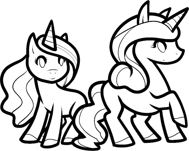 Two Children Of The Unicorn Its Funny Coloring Pages