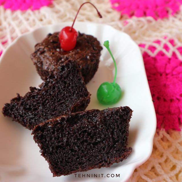 Cupcake Cokelat Tapioka (gluten free, vegan, no mixer)