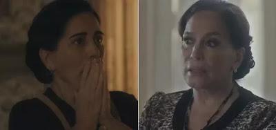 Lola (Gloria Pires) e Emília (Susana Vieira) no remake de Angela Chaves: viúva pedirá ajuda para tia milionária