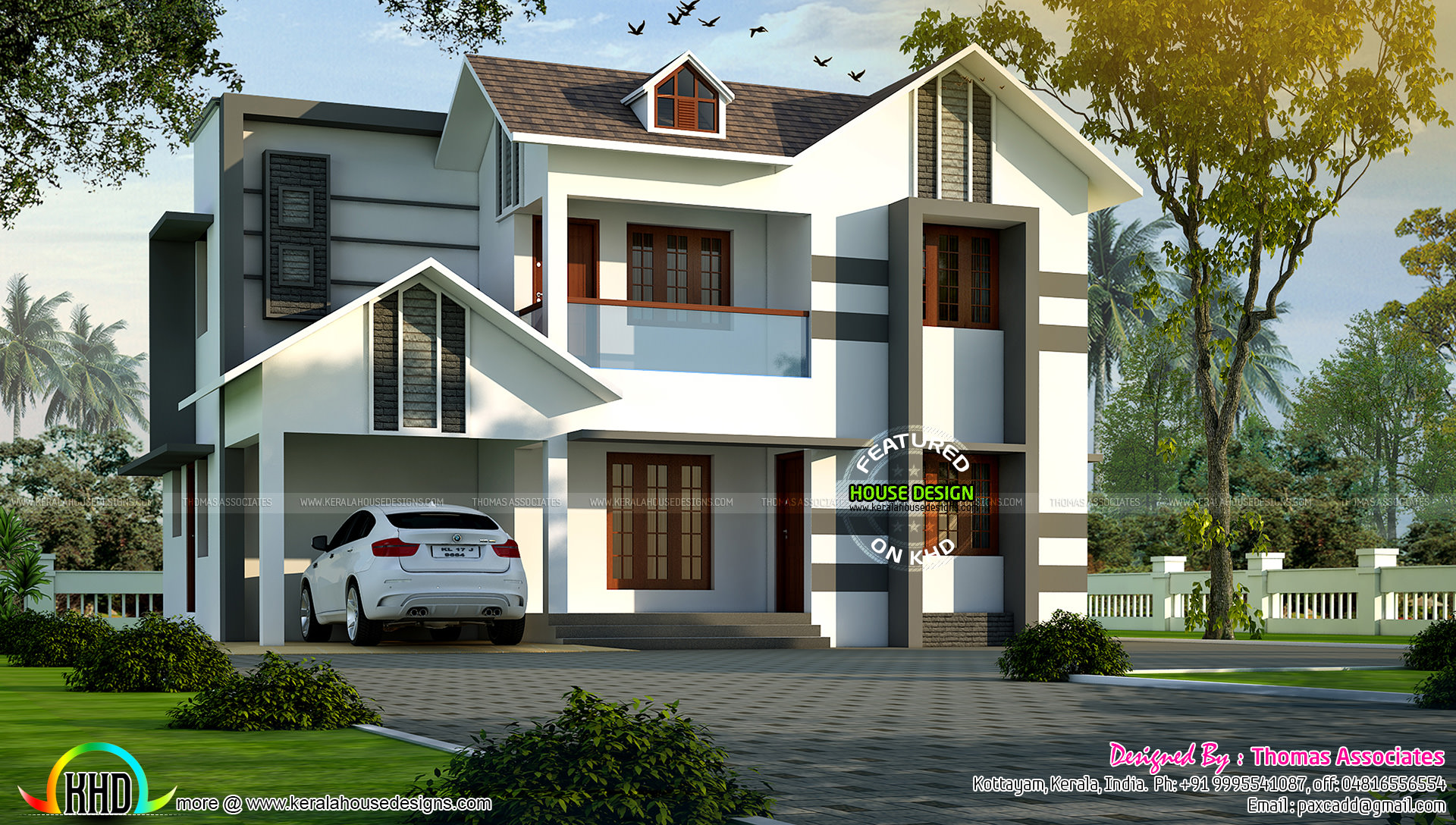 4 bhk villa in 1850 sq ft kerala home design and floor plans for 4 bhk home design