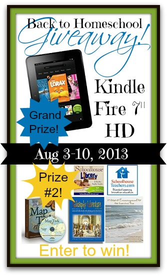 Back to Homeschool Giveaway Win a Kindle Fire