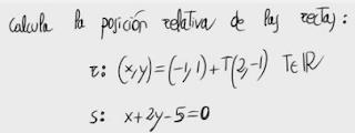 25. Posición relativa de dos rectas 1