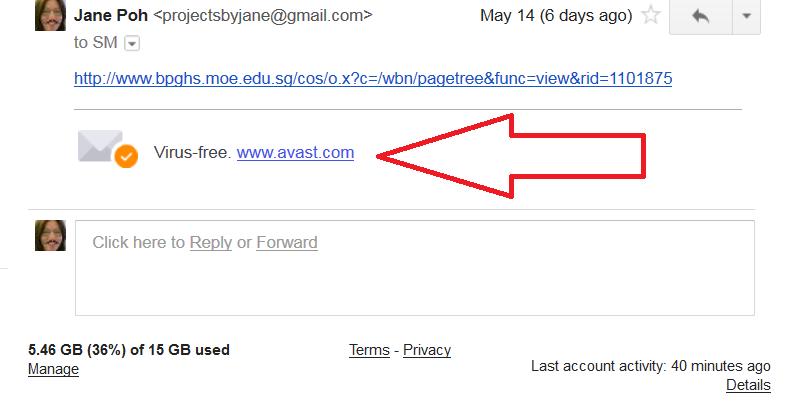 gmail avast signature remove