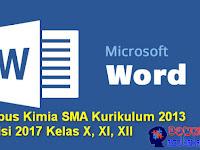 Silabus Kimia SMA Kurikulum 2013 Revisi 2017