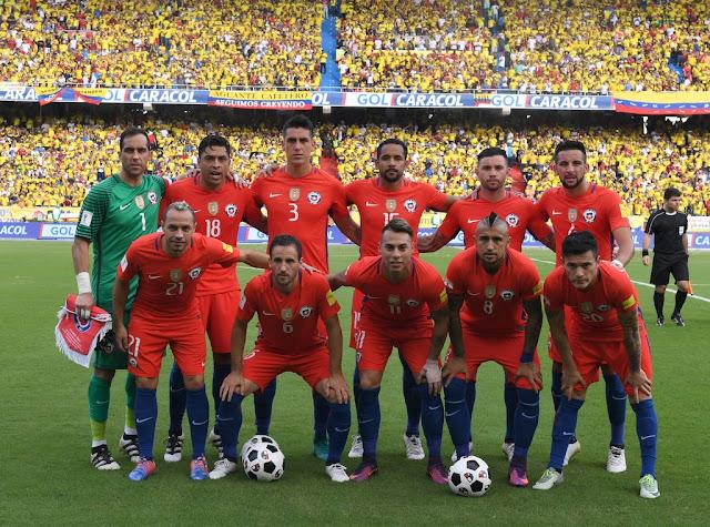 Formación de Chile ante Colombia, Clasificatorias Rusia 2018, 10 de noviembre de 2016