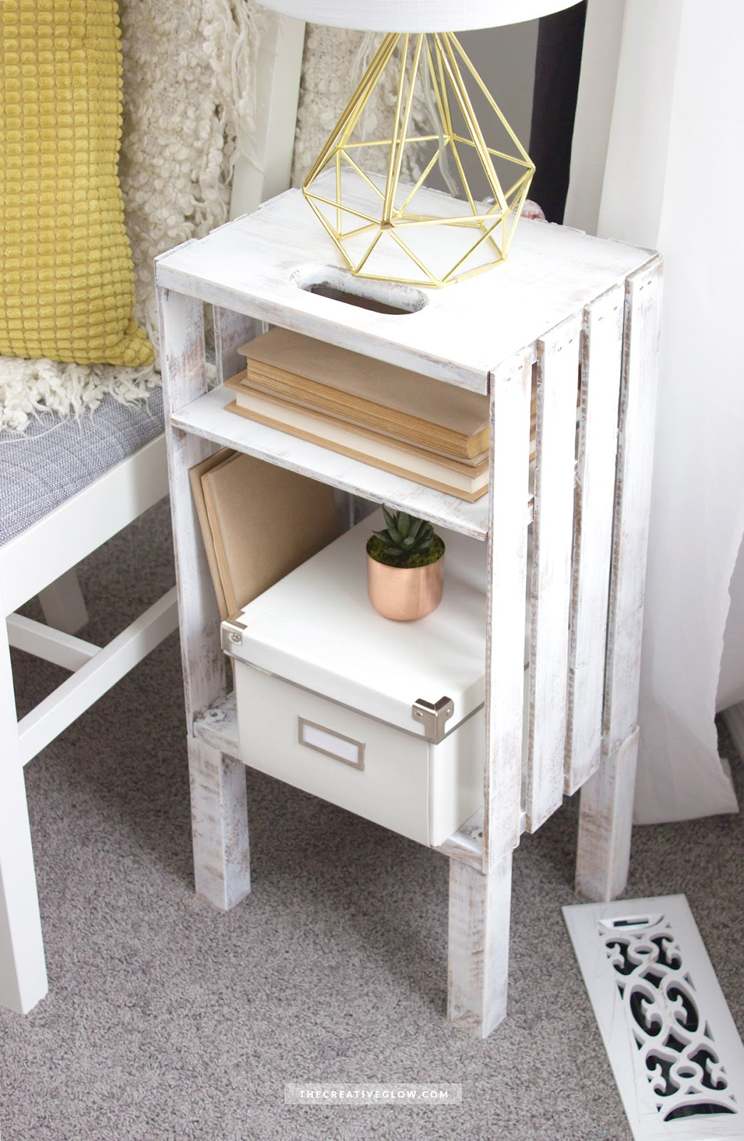 exceptional wood crate side table diy