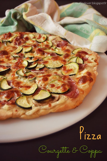 recette pizza courgette coppa - muffinzlover.blogspot.fr