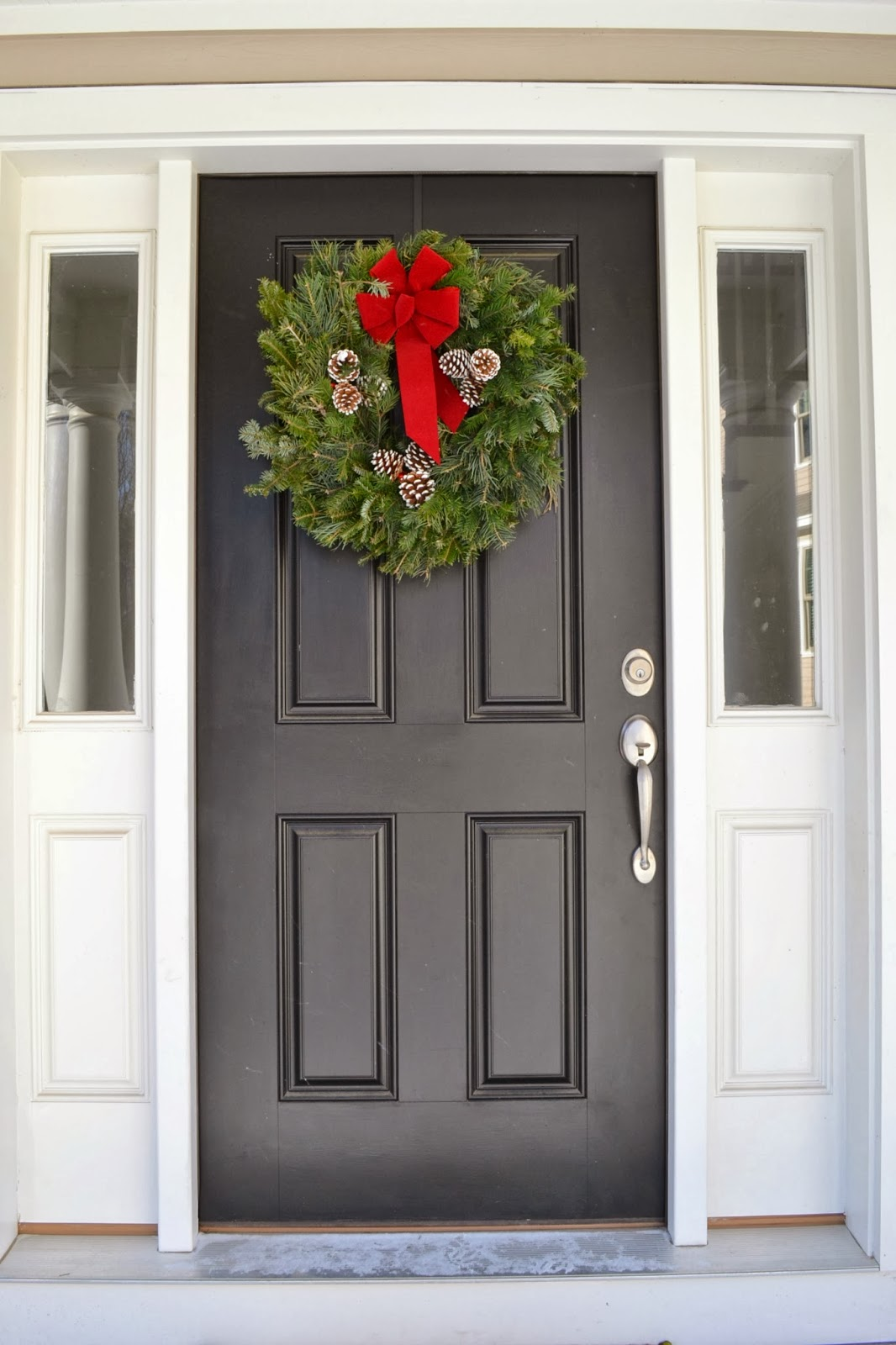 garland around front door all sorts of ricci fresh garland via christmastreefarms 3736