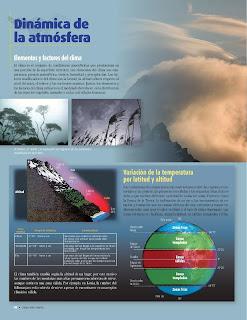Apoyo Primaria Atlas de Geografía del Mundo 5to. Grado Capítulo 2 Lección 3 Dinámica de la Atmósfera, Elementos y Factores del Clima, Variación del Clima por Latitud y Altitud