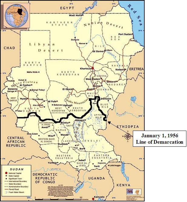 Sudão | Mapas Geográficos do Sudão
