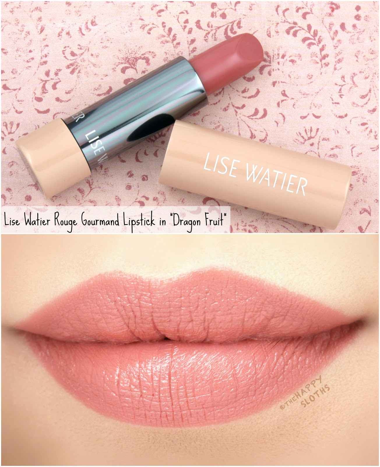 "Lise Watier | Rouge Gourmand The Nudes Lipstick in ""Dragon Fruit"": Review and Swatches"