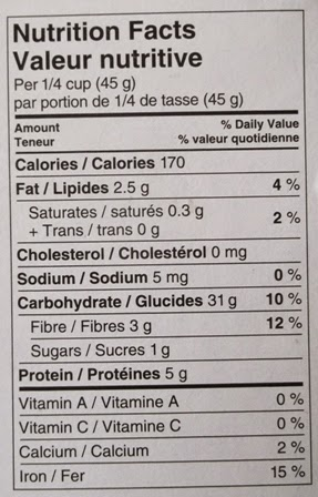 Nutrition facts of PC Organics Quinoa, PC Organics Quinoa, President's Choice Organics Quinoa, Organics Quinoa, Quinoa, President's Choice, 100 Happy Days Challenge, Another Random Thought of a Procrastinator, Random Thought, Another Random Thought, Random Thoughts, Another Random Thoughts, Procrastinator