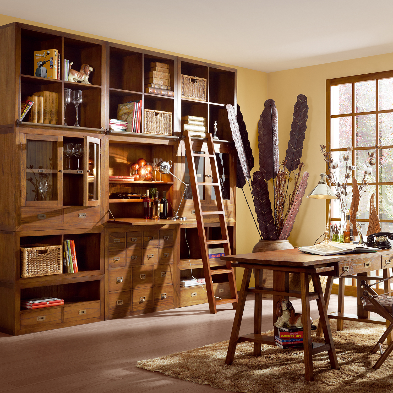 Muebles de sal n estanterias y librerias orden para el salon for Estanterias estilo escandinavo