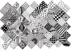 zentangle patterns landscape visual arts fun practicing asked students were