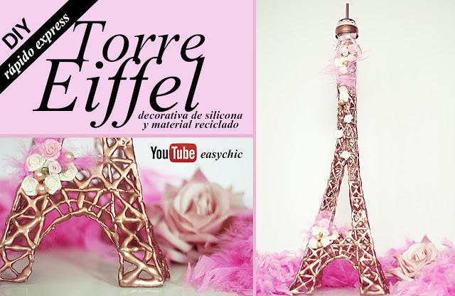 Cmo hacer una Torre Eiffel decorativa muy fcil y rpido Manualidades