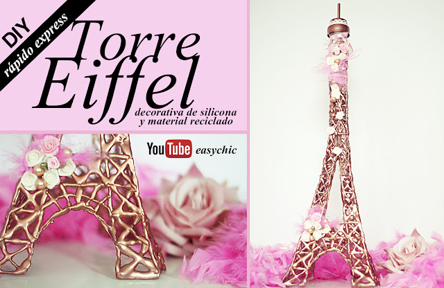 Como Hacer Una Torre Eiffel Decorativa Muy Facil Y Rapido Manualidades