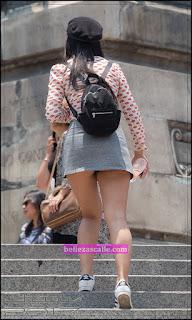 linda chica asiática minifalda
