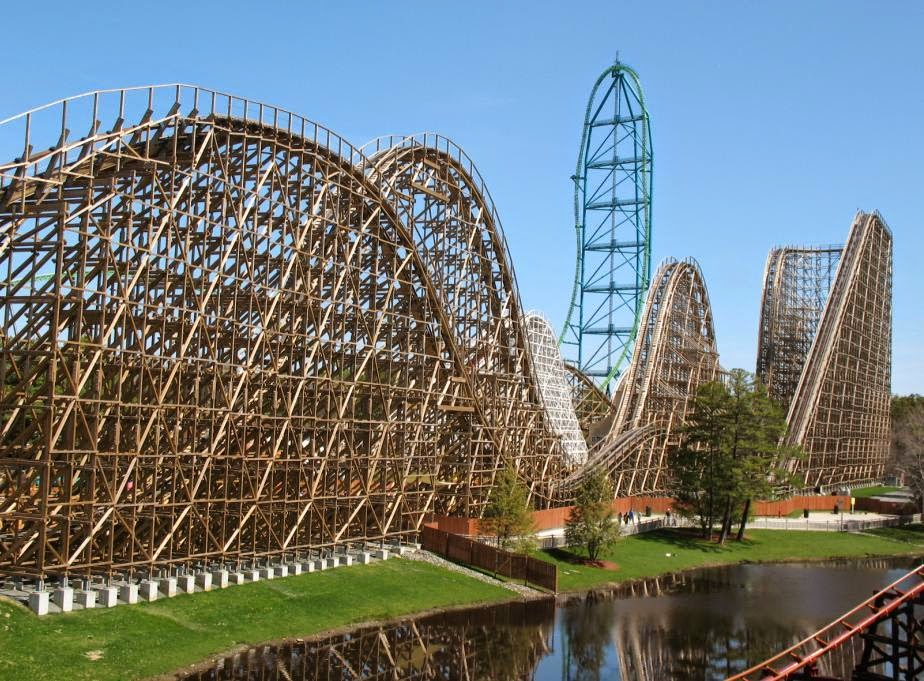 10 Amazing & Scariest Rollercoasters in the World | El Toro, Six Flags Great Adventure, Jackson, New Jersey, USA