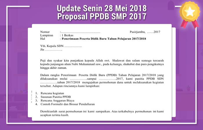 Update Senin 28 Mei 2018 Proposal PPDB SMP 2017