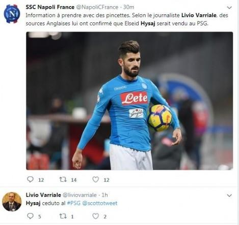 Elseid Hysaj bought by Paris Saint-Germain?