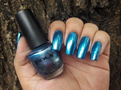 Esmalte azul metalico
