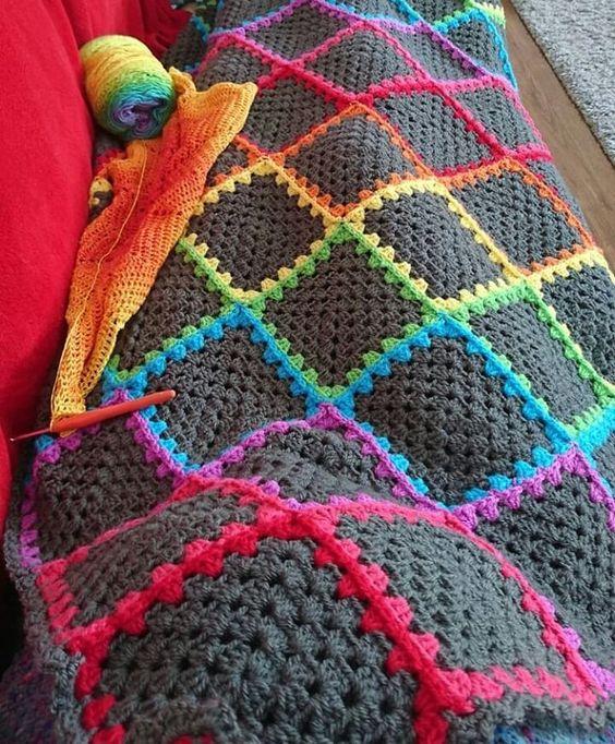 Mantas crochet con patrones