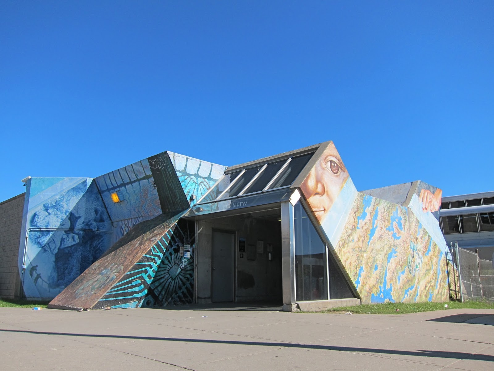 "Frank Perna's ""A Sense of Place"" mural, Kennedy Station"