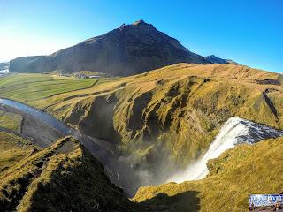 Islande cascade Skógafoss