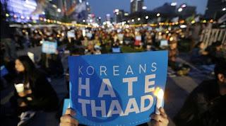 Demonstrasi Menentang THAAD
