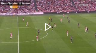 Video Ajax 2 - 0 Sturm Graz: Vòng sơ loại Champions League