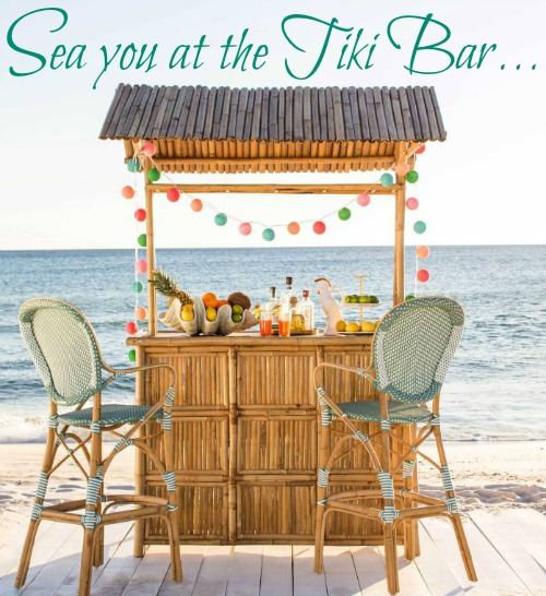 Beach tiki bar ideas for the home backyard for Beach bar ideas