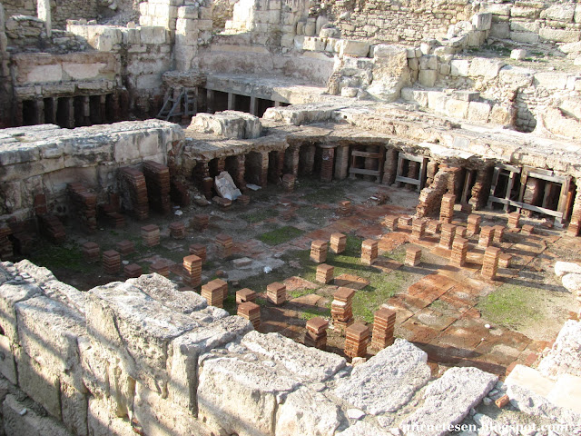 Курион - руины римских терм с отопительной системой
