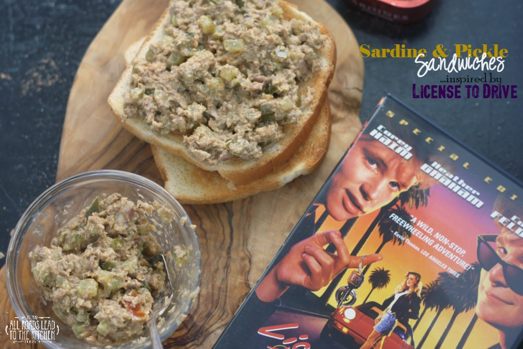 Sardine & Pickle Sandwiches inspired by License to Drive