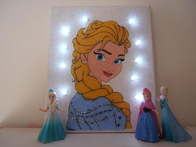 Elsa φωτιζομενος καμβας