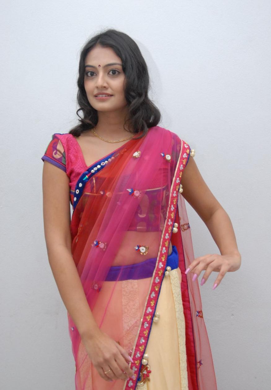 mast masala divine Nikitha narayan in saree photo gallery
