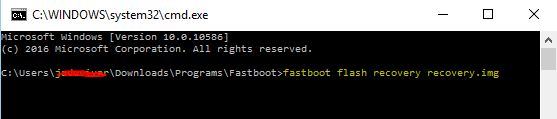 fastboot flash recovery