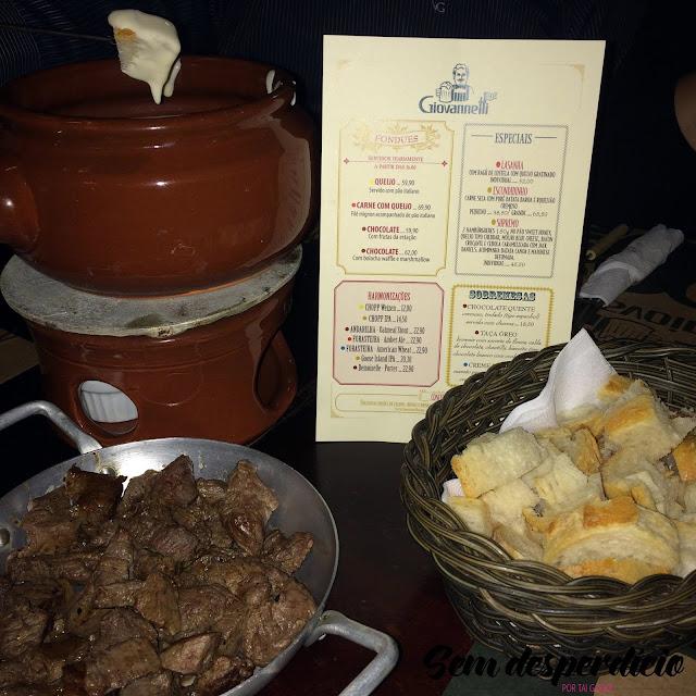 giovannetti campinas cambuí foundue de queijo com carne e pão