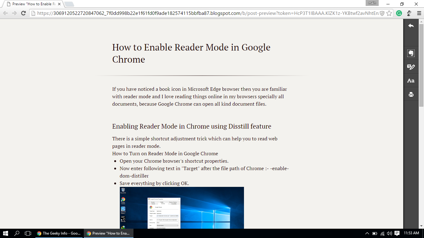How to Enable Reader Mode in Google Chrome | The Geek Info