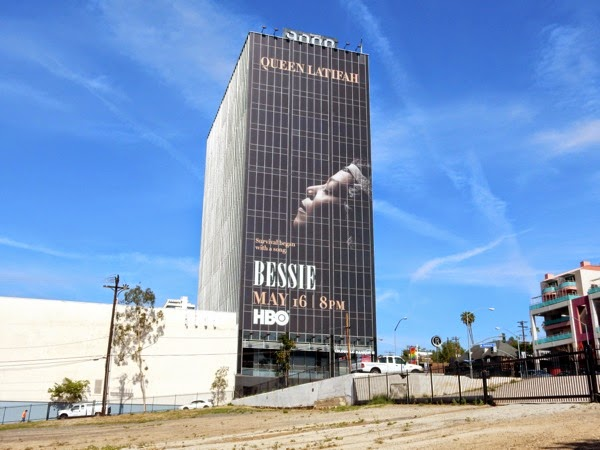 Giant Bessie HBO movie billboard Sunset Strip