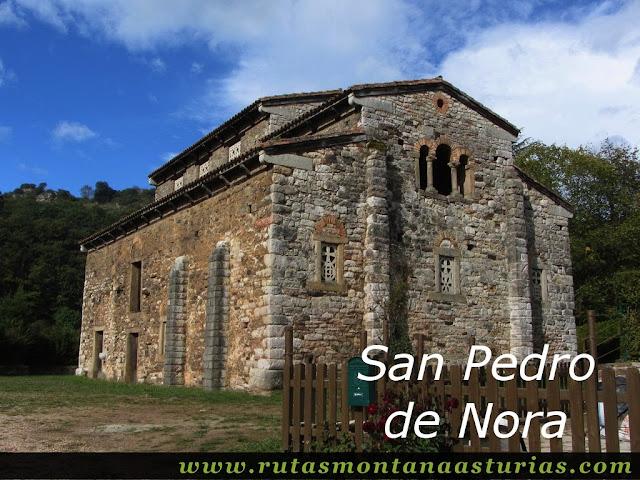 Ruta de Priañes: Iglesia prerrománica de San Pedro de Nora