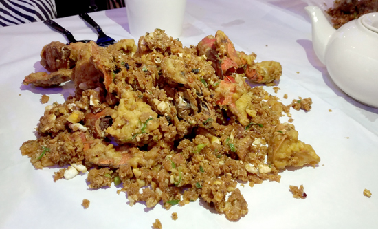 Crabs in Salted Egg, Blue Posts Boiling Crabs and Shrimps