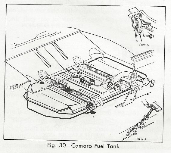 Steve's Camaro Parts: Steve's Camaro Parts  1967 Camaro Fuel Tank Information and Diagrams